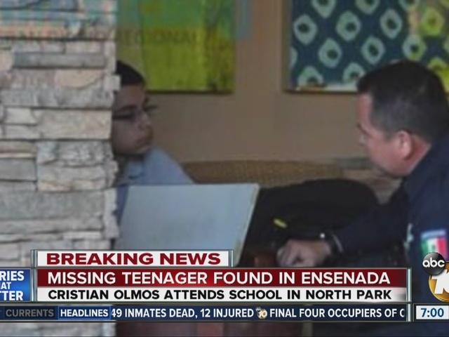 Missing teenager found safe in Ensenada