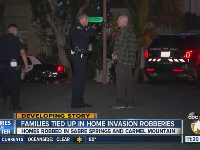 Two home invasion robberies hours apart, no arrests