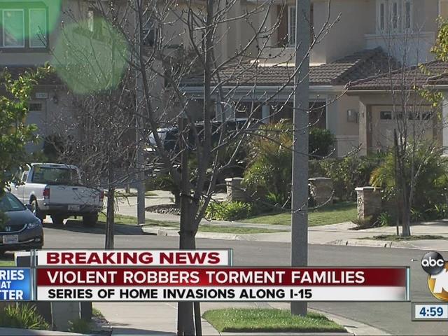 Violent robbers torment families