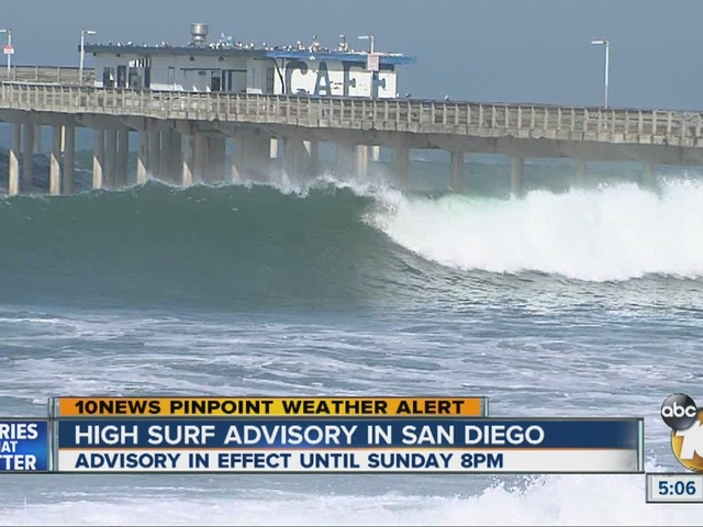 Ocean Beach pier closed due to high surf