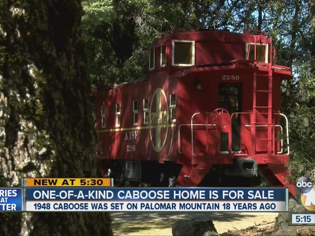 One-of-a-kind caboose home for sale
