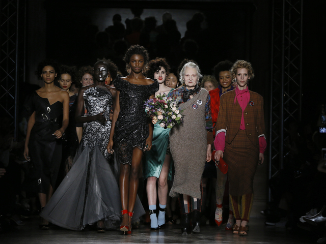 Models Display Statement Pieces During The Alexander Mcqueen Autumn Winter Show At London Fashion Week