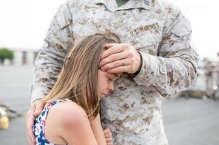 PHOTOS: Tearful goodbye as Marines deploy