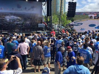 Chargers kick off signature drive for stadium