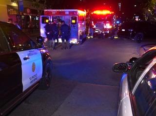 Driver plows into pedestrian in Gaslamp, flees