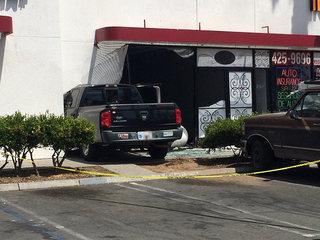 Truck hits building at Chula Vista strip mall