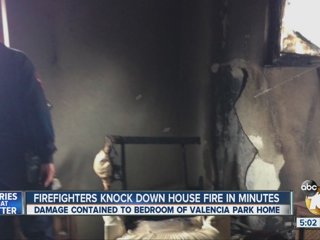 Firefighters knock down house fire in minutes