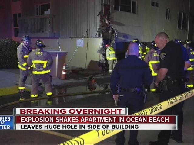 Mystery explosion rocks Ocean Beach apartment building