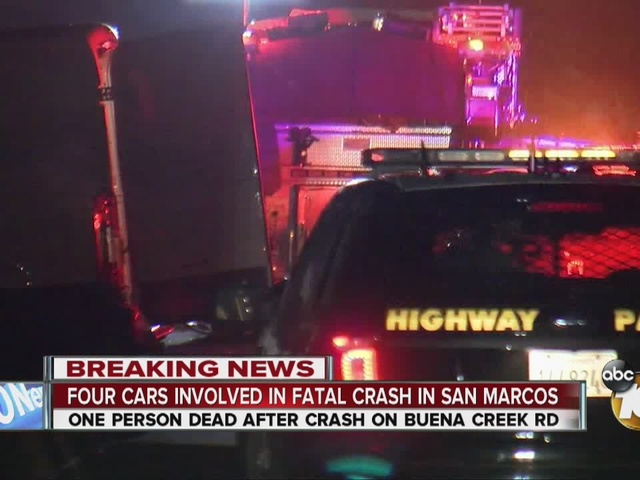 One dead in 4-vehicle San Marcos crash