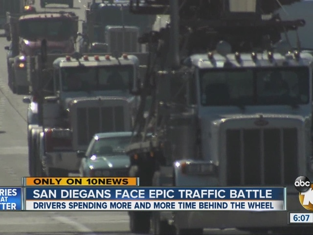 San Diegans face epic traffic battle