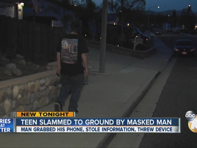 Teen slammed to ground by masked man in Santee