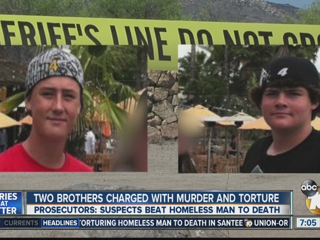 Two brothers charged with murder and torture of homeless man