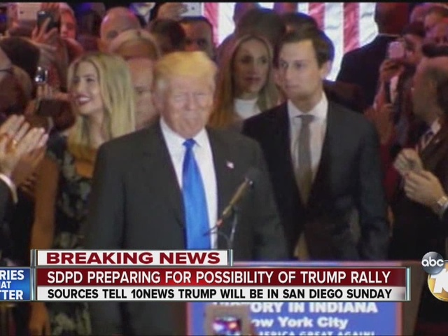 SDPD preparing for possibility of Trump rally
