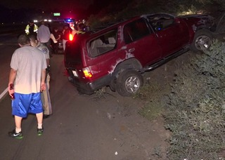 Couple run off I-805 by hit-run driver