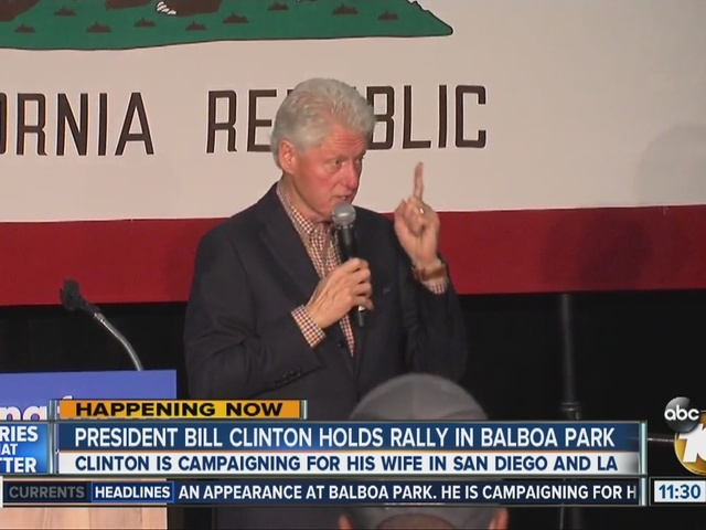 Bill Clinton makes case to San Diego voters
