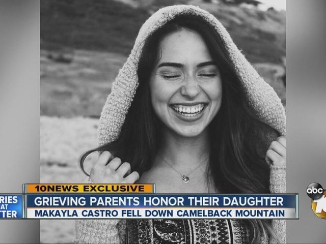 Grieving parents honor daughter who died after falling during hike