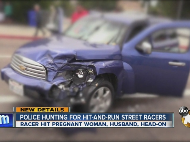 Police hunting for hit-and-run street racers