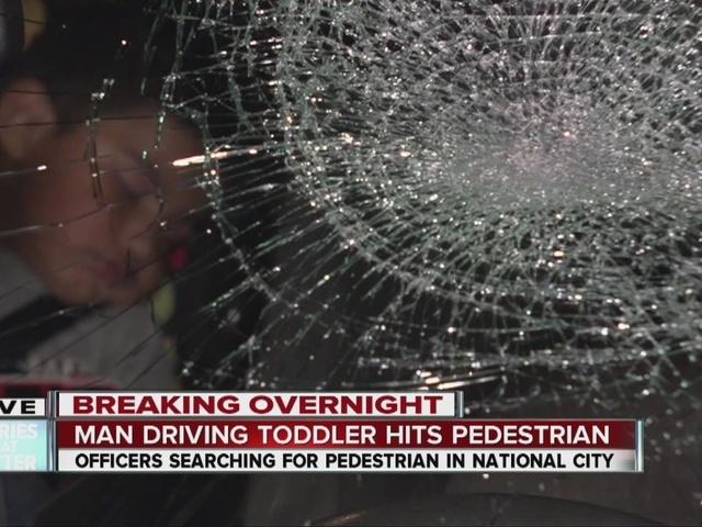 Pedestrian hit by car, runs away