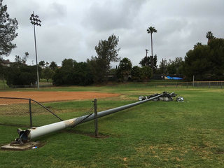 Tower crashes onto local Little League field