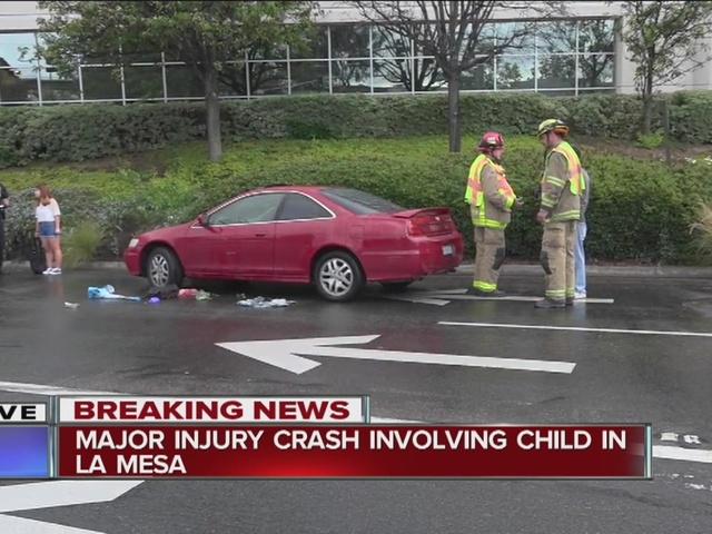 Woman struck by car in La Mesa