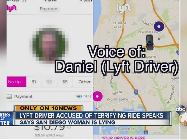 Lyft driver accused of terrifying ride speaks out