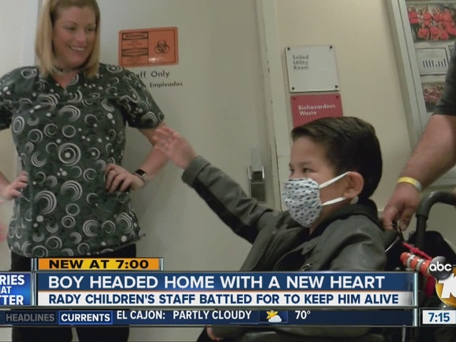 First child to live on external artificial heart in San Diego history…
