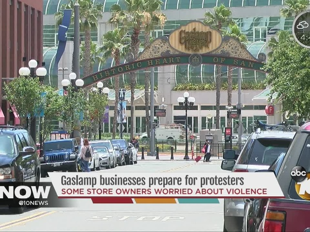 Gaslamp businesses prepare for protesters