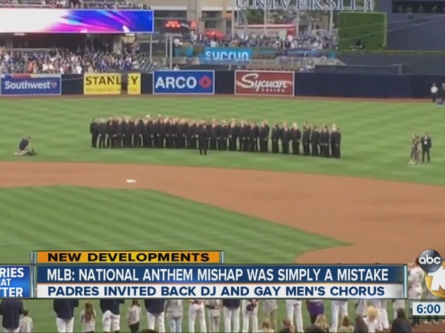 MLB: National Anthem mishap was simply a mistake