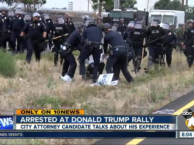 Arrested at Donald Trump rally