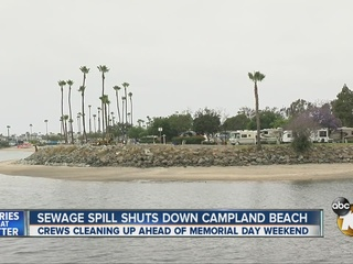 Campland Beach reopens after sewage spill