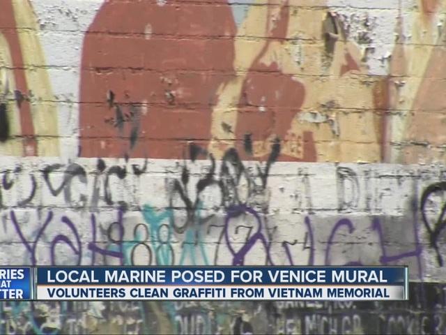 Memorial to Vietnam veterans defaced in Los Angeles
