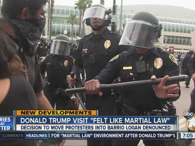 Some community leaders blast San Diego police over handling of Trump protesters