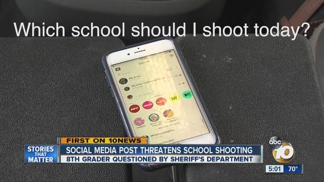 Eighth Grade Boy Posts School Shooting Threat On Snapchat
