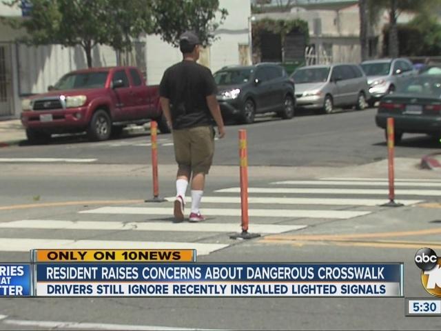 Residents raise concern over 'dangerous' crosswalk in City Heights