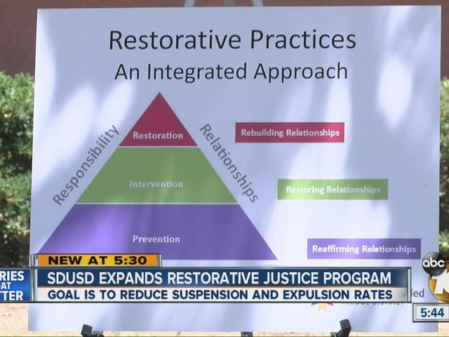 San Diego Unified School District expands restorative justice program