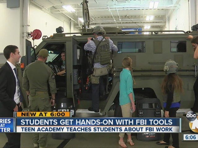 Local teens get hands-on with FBI tools