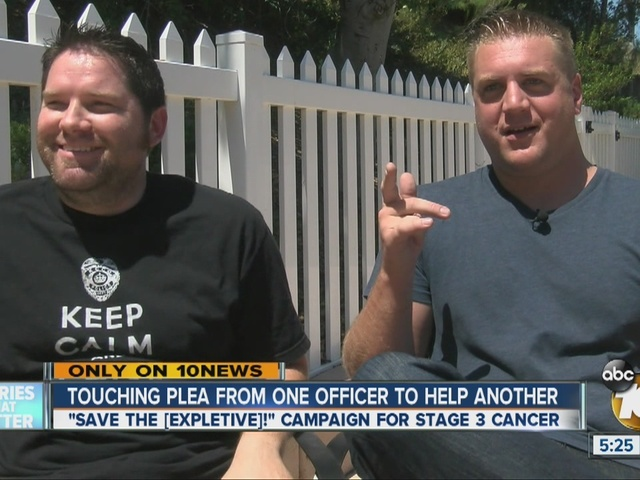 San Diego police officer starts campaign to help partner with cancer