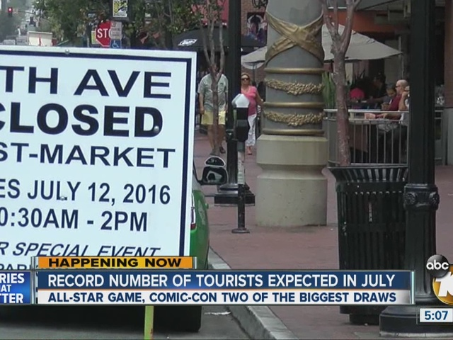 Record number of tourists expected in July
