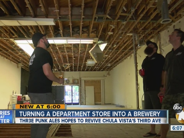 Turning a department store into a brewery