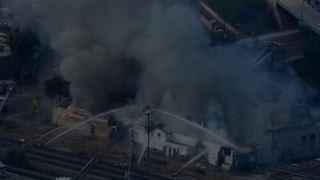 4-alarm fire engulfs former meat market