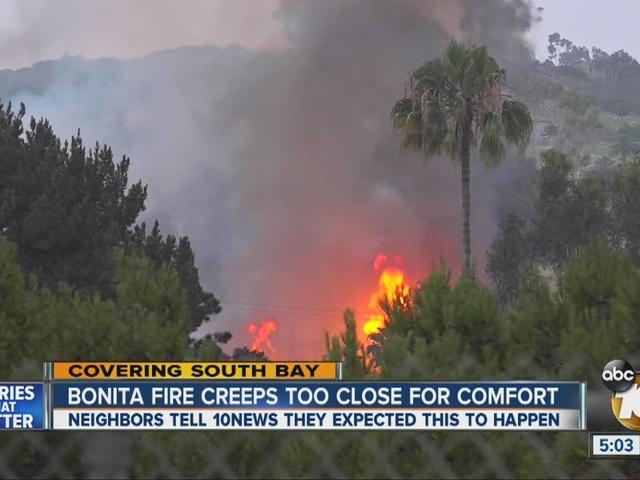 Bonita Fire creeps too close for comfort