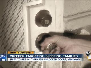 Creeper jiggling door handles, trying windows