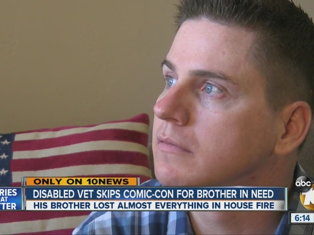 Disabled vet skips Comic-Con for brother in need
