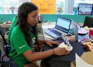 Unique camp teaches girls robotics, engineering