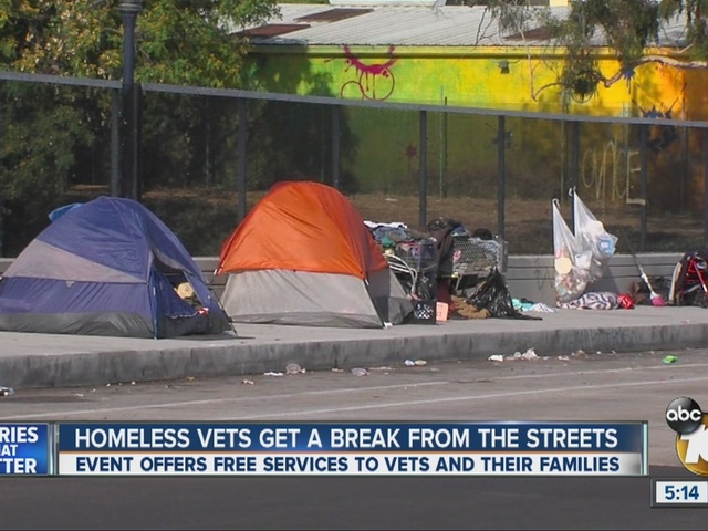 Homeless vets get a break from the streets