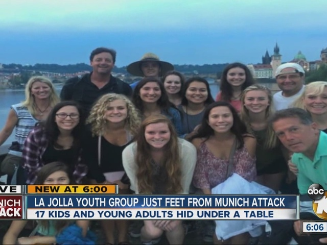 La Jolla youth group just feet from Munich attack