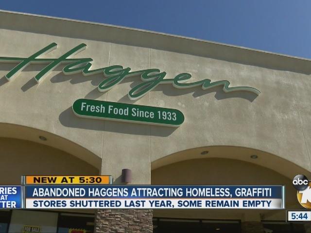 Abandoned Haggens store attracting homeless, graffiti