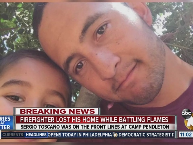 Firefighter lost home to Sand Fire while battling Camp Pendleton blaze