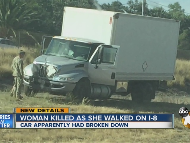 Woman killed as she walked on I-8 in Lakeside