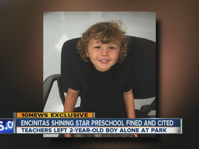 Encinitas Shining Star preschool fined, cited over child left at park